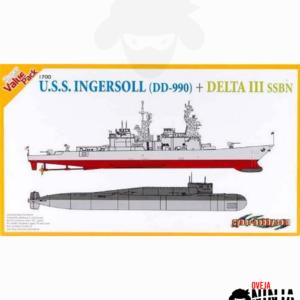 USS Ingersoll DD-990 Delta III SSBN Cyber-Hobby