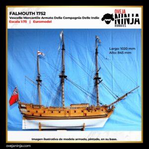 Falmouth 1752Vascello Mercantile Armato Della Compagnia Delle Indie