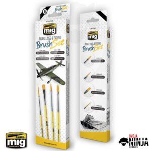 Panel Lines and Fading Brush Set - Ammo Mig Jimenez